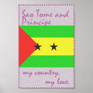 Póster Sao Tome and Principe meu país meu amor
