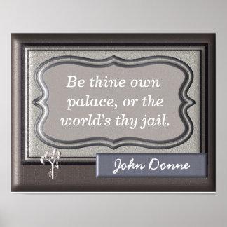 Póster Seja thine possuem citações de John Donne do ~~ do