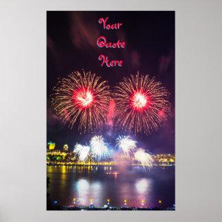 Póster Seus das citações fogos-de-artifício aqui | Cidade