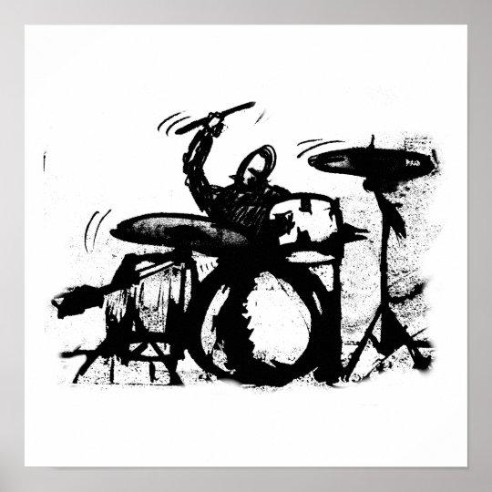 Poster shady drumer