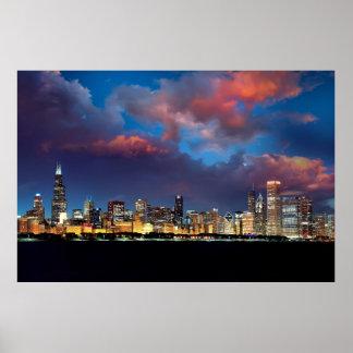 Póster Skyline de Chicago
