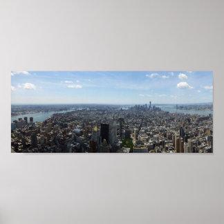 Póster Skyline de Manhattan