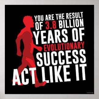 Póster Sucesso evolucionário