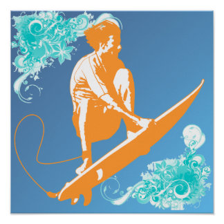 Poster surfando pôster