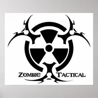 Poster tático do zombi pôster