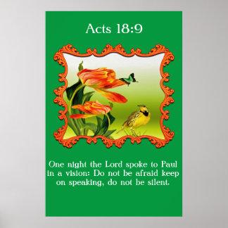 Poster Tordo dos remedos amarelo amarelo e preto do 18:9