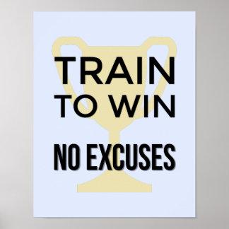 Póster Trem para ganhar os esportes inspiradores