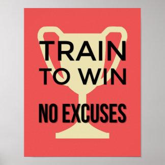 Poster Trem para ganhar os esportes vermelhos