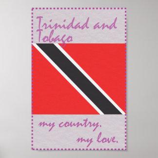 Poster Trinidad and Tobago meu país meu amor