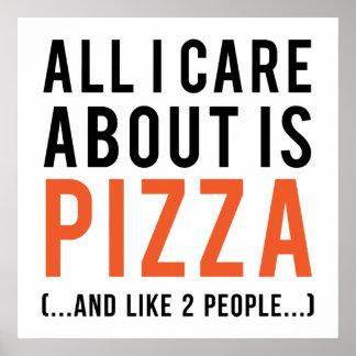 Póster Tudo cuidado de i é aproximadamente a pizza (e