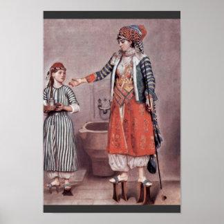 Poster ‰ Turco Tienne da senhora Com Empregada doméstica