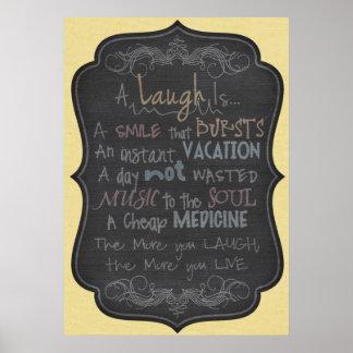 Póster Um riso é um sorriso que estoure