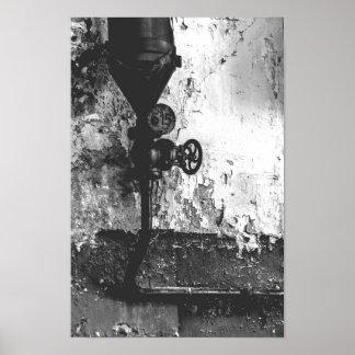 Poster Urbex 515 preto e branco altos contraste