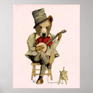Póster Urso do banjo