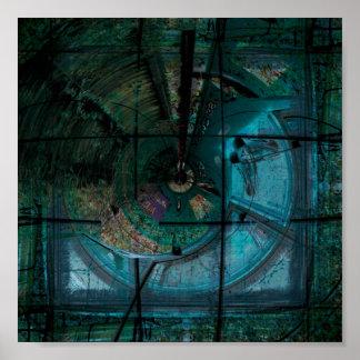 Poster Vapor espiral do topázio