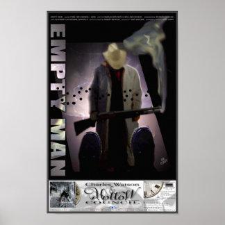 Poster vazio do homem