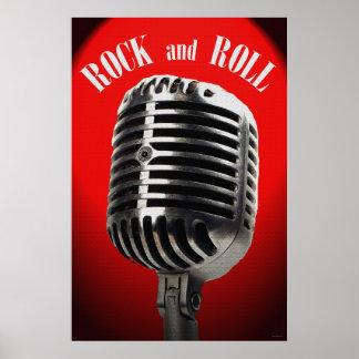 Poster velho do rock and roll 36 x 24 do tempo pôster