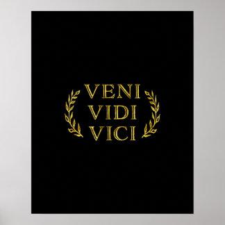Póster Vencedor engraçado do jogo de Veni Vidi Vici