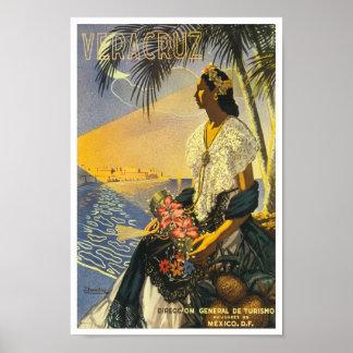 Poster Veracruz das viagens vintage