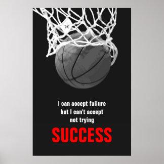 Poster vermelho branco preto do basquetebol das