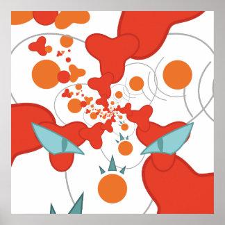 Poster vermelho da arte abstracta pôster