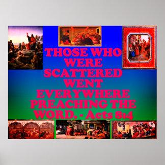 Poster Verso da bíblia dos atos 8: 4.