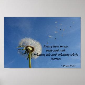 Póster Vidas da poesia em mim