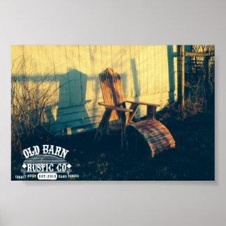 Poster vintage autêntico rústico do Co. do celeiro