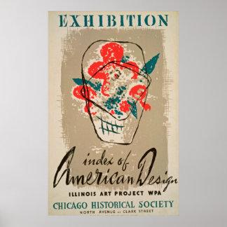 Poster vintage da sociedade histórica da exposição