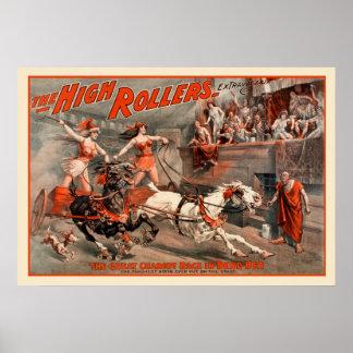 Poster vintage dos rolos altos