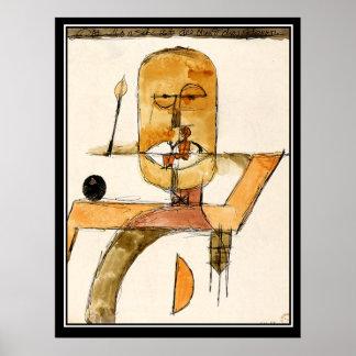 Poster vintage moderno da arte abstracta pôster