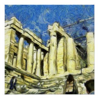 Póster Visitando a acrópole em Atenas