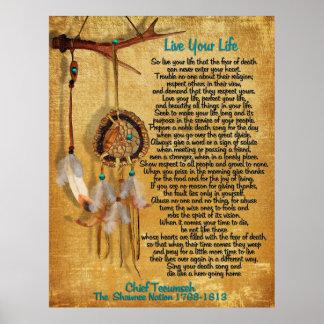 """Póster """"Vive ato principal de Tecumseh da sua vida """" da"""