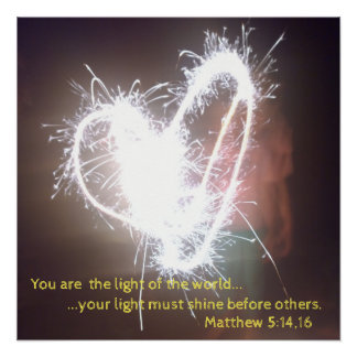 Póster Você é a luz do mundo!
