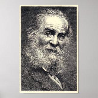 Póster Walt Whitman que grava, idade 52