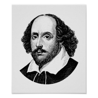 Póster William Shakespeare - bardo