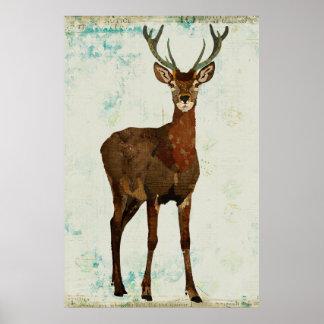 Poster Woodsy da arte dos alces