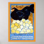 Poster WW1 francês do vintage do ~ do basse-cour d