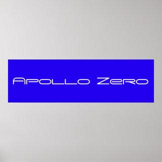 Poster zero de Apollo, azul