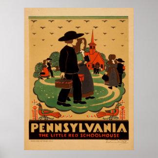Posteres de viagens de Pensilvânia do vintage Pôster