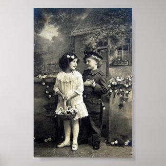 Posteres vintage de crianças do século XX de Alema