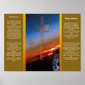 Posters 1 do capítulo 91 dos salmos pôster