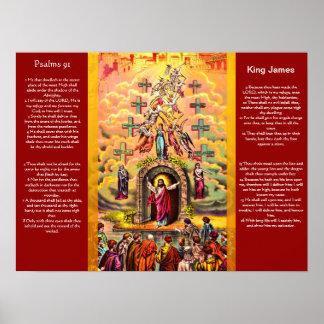 Posters 2 do capítulo 91 dos salmos pôster