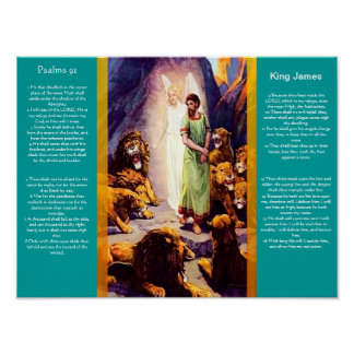 Posters 9 do capítulo 91 dos salmos pôster