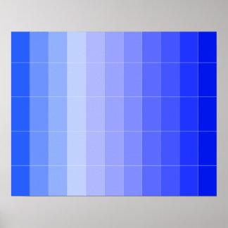 Posters azuis do espaço do artista de Colorplay