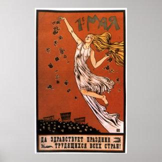 Posters da propaganda de União Soviética da guerra