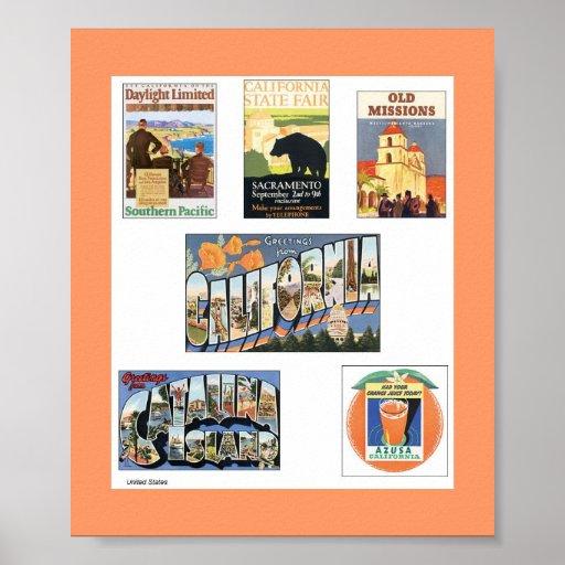 Posters das viagens vintage