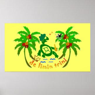 Posters de Trinidad and Tobago, imagens, desenhos  Pôster