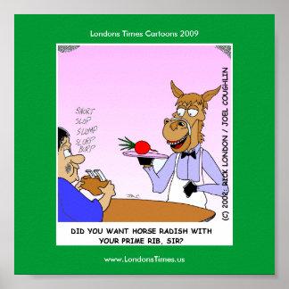 Posters engraçados de Cartoom dos garçons do caval