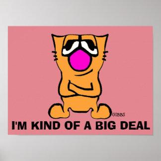 Posters engraçados do gato, gato de Gibby